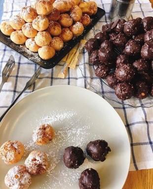 Сливочные и шоколадные профитроли - купить на Экомаркете
