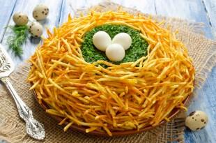 Салат «Гнездо глухаря» - рецепт приготовления