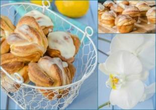 Булочки с лимоном и глазурью - рецепт приготовления