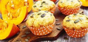 Кексы с тыквой, овсянкой и грецкими орехами - рецепт приготовления