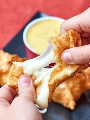 Сырные вонтоны - рецепт приготовления