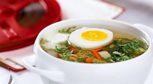 Суп из крапивы с яйцом - рецепт приготовления
