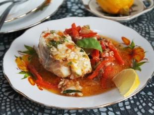 Треска с морковью и луком - рецепт приготовления