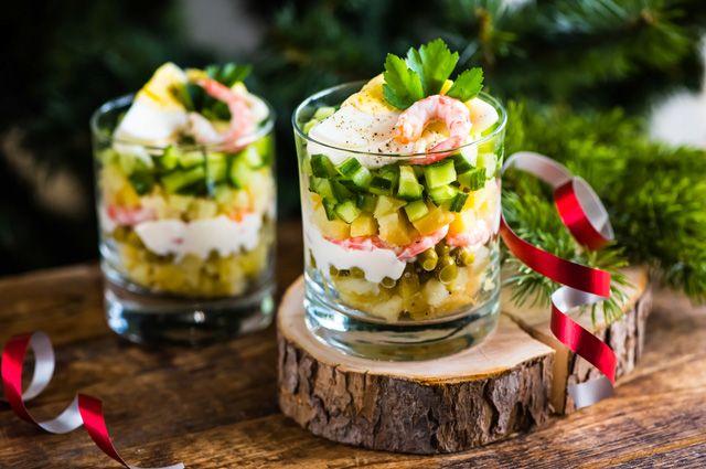 праздничные салаты-коктейли с фото